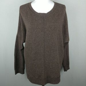 Vince Yak Hair Wool Blend Brown Sweater MD